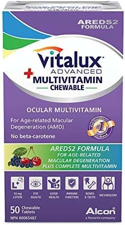 Vitalux Advanced + Multivitaimin Chewable - Ocular multivitamin, 50 chewable tabs