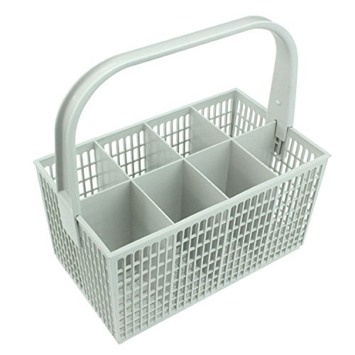 Spares2go Cutlery Basket Cage For Zanussi Dishwasher (White, 237Mm X 137Mm 122Mm)