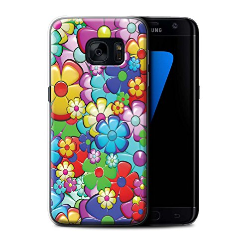 STUFF4 Phone Case/Cover for Samsung Galaxy S7 Edge/G935/Vibrant Flower Power Design/Hippie Hipster Art Collection