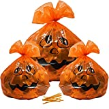 Gift Boutique Plastic Pumpkin Halloween Leaf Bags Decorations 12 Pack Large & Small Orange Fall Leaves Garbage Trash Bag 4 of 36 x 48 and 8 of 24 x 30 for Outdoor Lawn Yard Decor