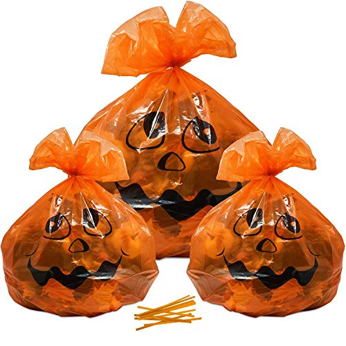 Gift Boutique 12 Pack Plastic Pumpkin Thanksgiving Leaf Bags Decorations 12 Pack Large & Small Orange Fall Leaves Garbage Trash Bag 4 of 36 x 48 and 8 of 24 x 30 for Autumn Outdoor Lawn Yard Decor]()
