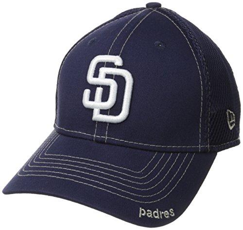 MLB San Diego Padres Neo Fitted Baseball Cap, Navy, Small/Medium