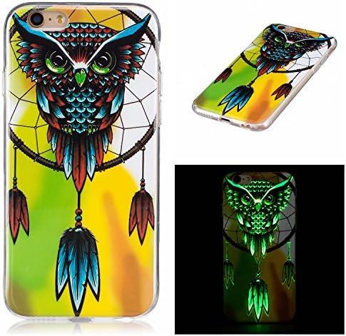 [해외]Luminous Case for iPhone 6 Plus6S Plus 5.5Aoucase Soft Silicone TPU Flexible Shockproof Scratchproof Bumper Glow The Dark Cover ShellBlack Dual-use StylusCute Owl / Luminous Case for iPhone 6 Plus6S Plus 5.5Aoucase Soft Silicone TP...