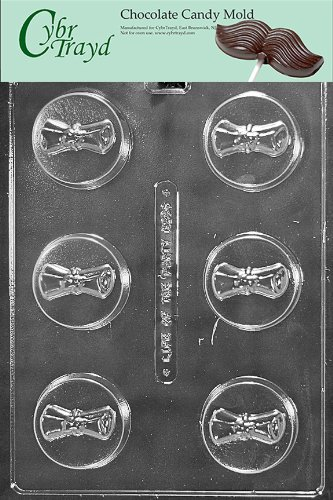 Cybrtrayd M230 Graduation Diploma Cookie Chocolate Candy Mold with Exclusive Cybrtrayd Copyrighted Chocolate Molding Instructions