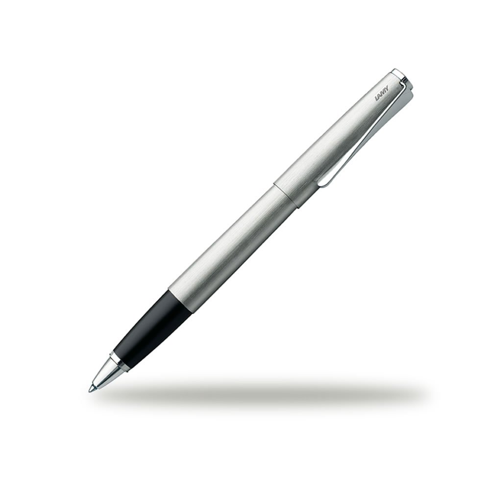Lamy Unisex Studio Brushed Stainless Steel Rollerball Pen - Silver