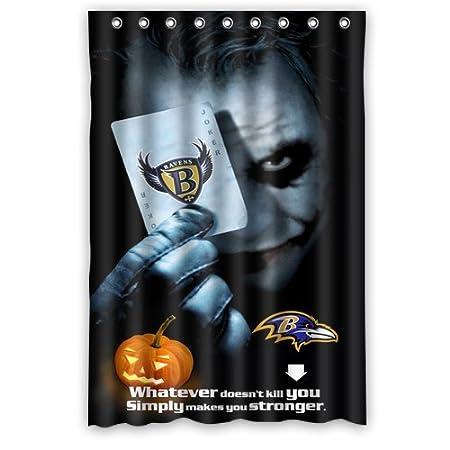 Halloween Pumpkin Joker Baltimore Ravens Shower Curtain 48quot X 72quot Click Here Four