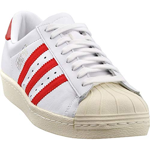(adidas Mens Superstar OG Casual White 8)