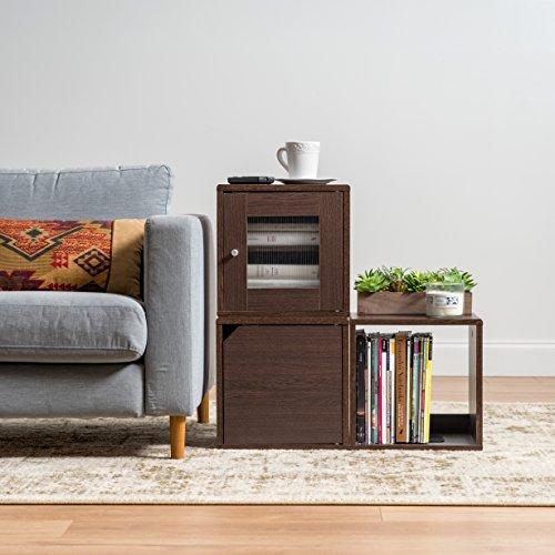 IRIS USA, QR-34D, Wood Storage Cube with Door, Brown Oak, 1 Pack by IRIS USA, Inc. (Image #6)