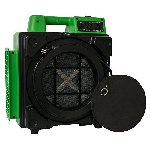 """XPOWER X-2480A 1.4"""" HEPA Mini Air Scrubber - Green"""