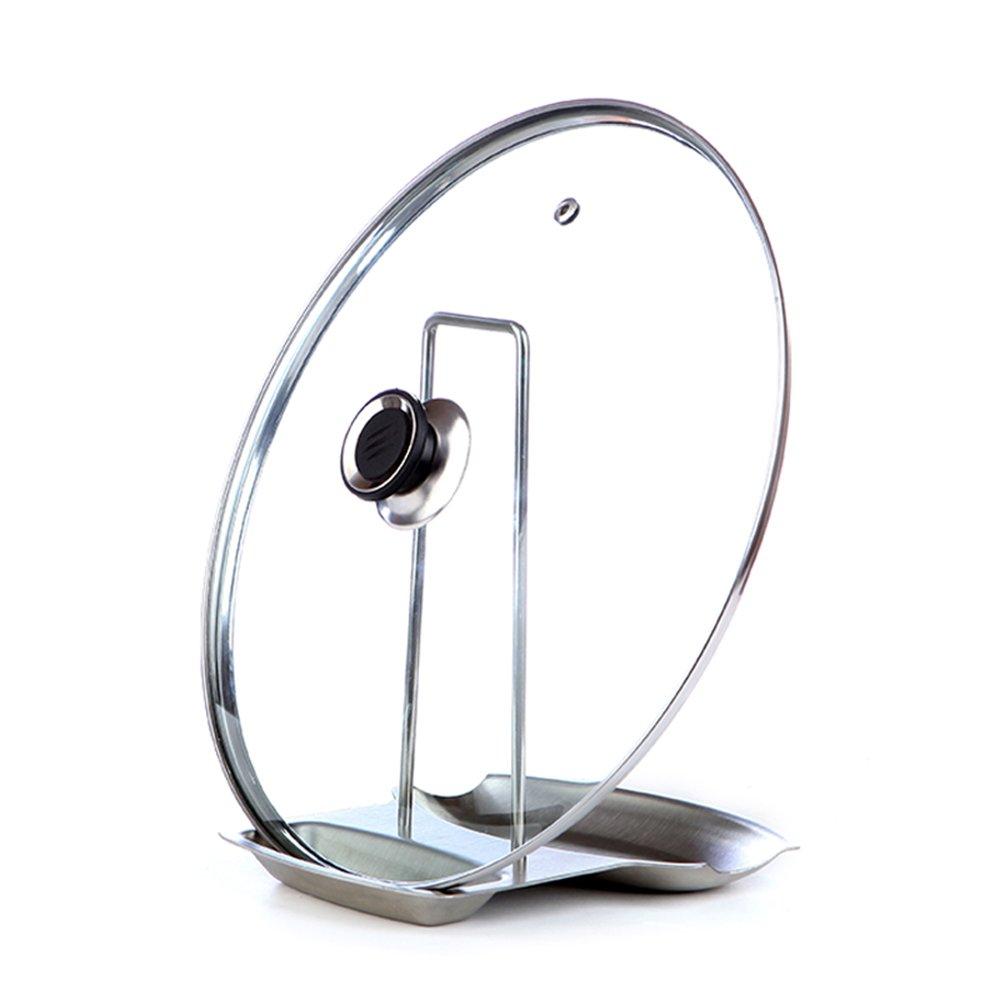 MyLifeUNIT Pot con coperchio e cucchiaio, in acciaio INOX