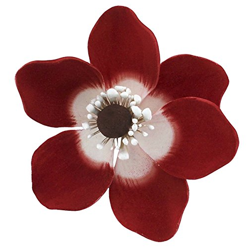 Global Sugar Art Poppy Anemone Sugar Cake Flowers Red, 16 Count by Chef Alan Tetreault by Global Sugar Art
