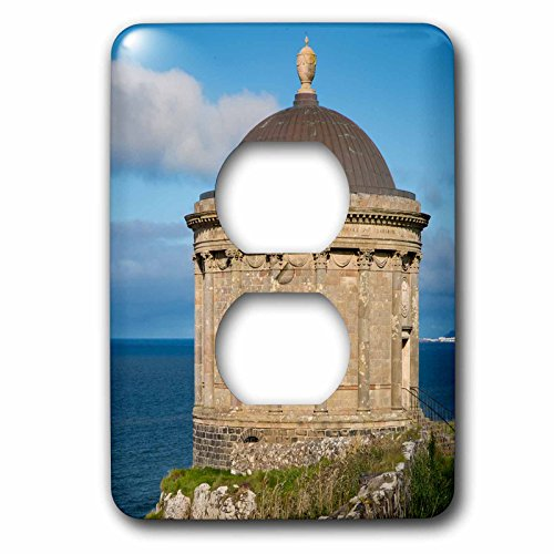 3dRose Danita Delimont - Northern Ireland - Mussenden Temple near Castlerock, County Londonderry, Northern Ireland - Light Switch Covers - 2 plug outlet cover - Outlet Castlerock