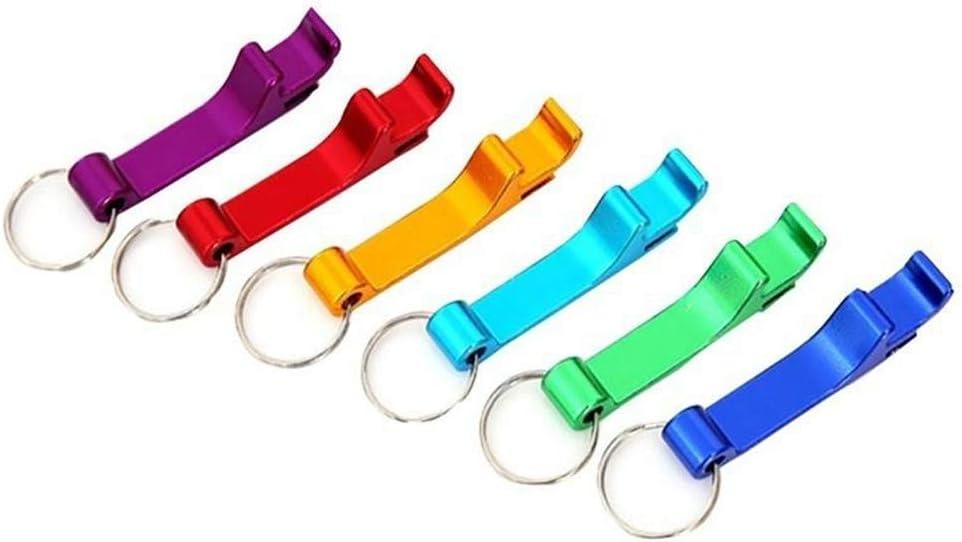 Color : Multi-colored , Size : 65x12mm Bouteille de vin Ouvre Mini Portable 8pcs en alliage daluminium polyvalent porte-cl/és ouvre-bouteille de bi/ère Outils Jar Ouvre Outils de cuisine