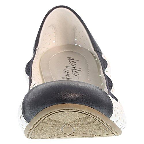 Dexflex Confort Femmes Scrunch Flat White_navy