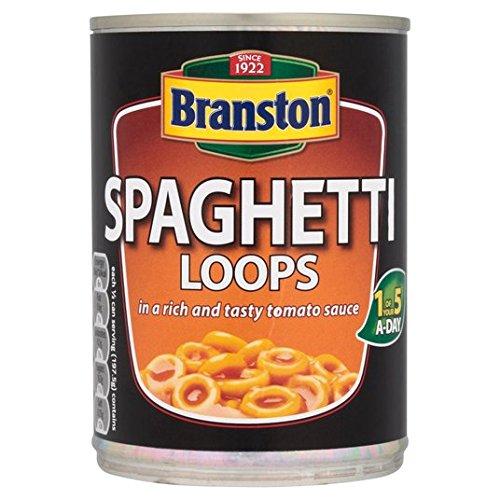 Branston espaguetis en salsa de tomates Loops 395g