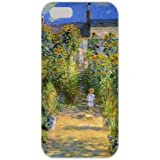 iPhone6S/6ハードスマホケース◇ クロード・モネ作「ヴェトゥイユの画家の庭園」名画 4.7インチ