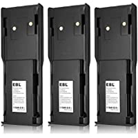 3 Pack EBL HNN8148, HNN8148A Two-way Radio Battery for Motorola P110, P-110 Radius 7.2V 2500mAh Ni-MH Rechargeable Battery