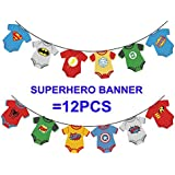 Cute Superhero Banners Baby shower birthday party, kids party decoration,babyshower decoration