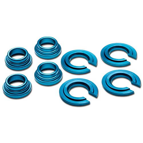 For Nissan 240SX/300ZX/Maxima Aluminum Subframe Tie Bar Bushing Collar Spacer Kit (Blue) - S13 S14 Z32 ()