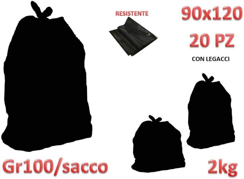 Palucart/® Sacchi Neri Grandi Resistenti Sacchi Spazzatura condominiali cm 90x120 120 Litri 200 Pezzi