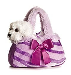 Aurora Plush Purple Pretty Pup Fancypal Purse
