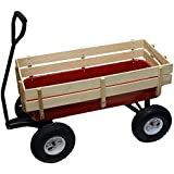 All Terrain Wagon Big Wheel Garden Red Steel Full Size Wood Cargo Sides Kids Childrens