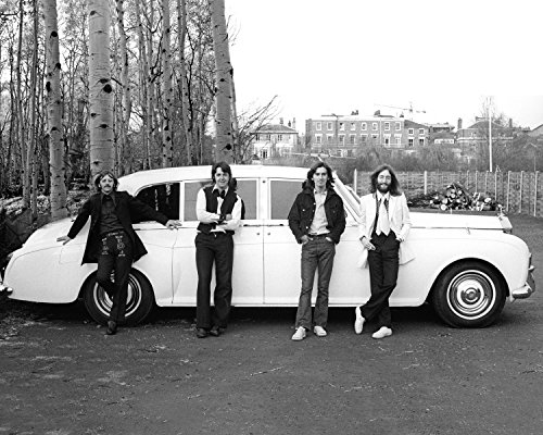 The Beatles Paul Mccartney John Lennon Candid White Rolls Royce 8x10 Photo (Pictures Of Paul Mccartney)