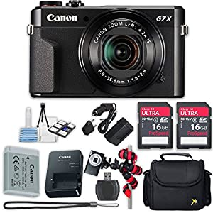 Canon PowerShot G7 X Mark II Wi-Fi Digital Camera with Accessory Kit (8 items) - International Version