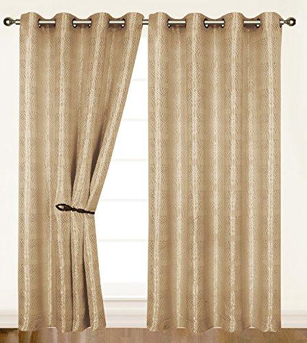 (Dainty Home Criss-Cross Helen Grommet Window Panel, 55 by 84-Inch,)