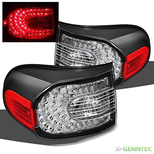 For 2007-2014 FJ Cruiser Black LED Performance Tail Lights Rear Brake Lamps Pair L+R/2008 2009 2010 2011 2012 2013