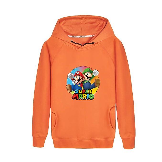 Haililais Super Mario Sudaderas Estampados para Niño y Niña Sudaderas con Capucha Casuales Suéter Hipster Camisetas de Manga Larga: Amazon.es: Ropa y ...