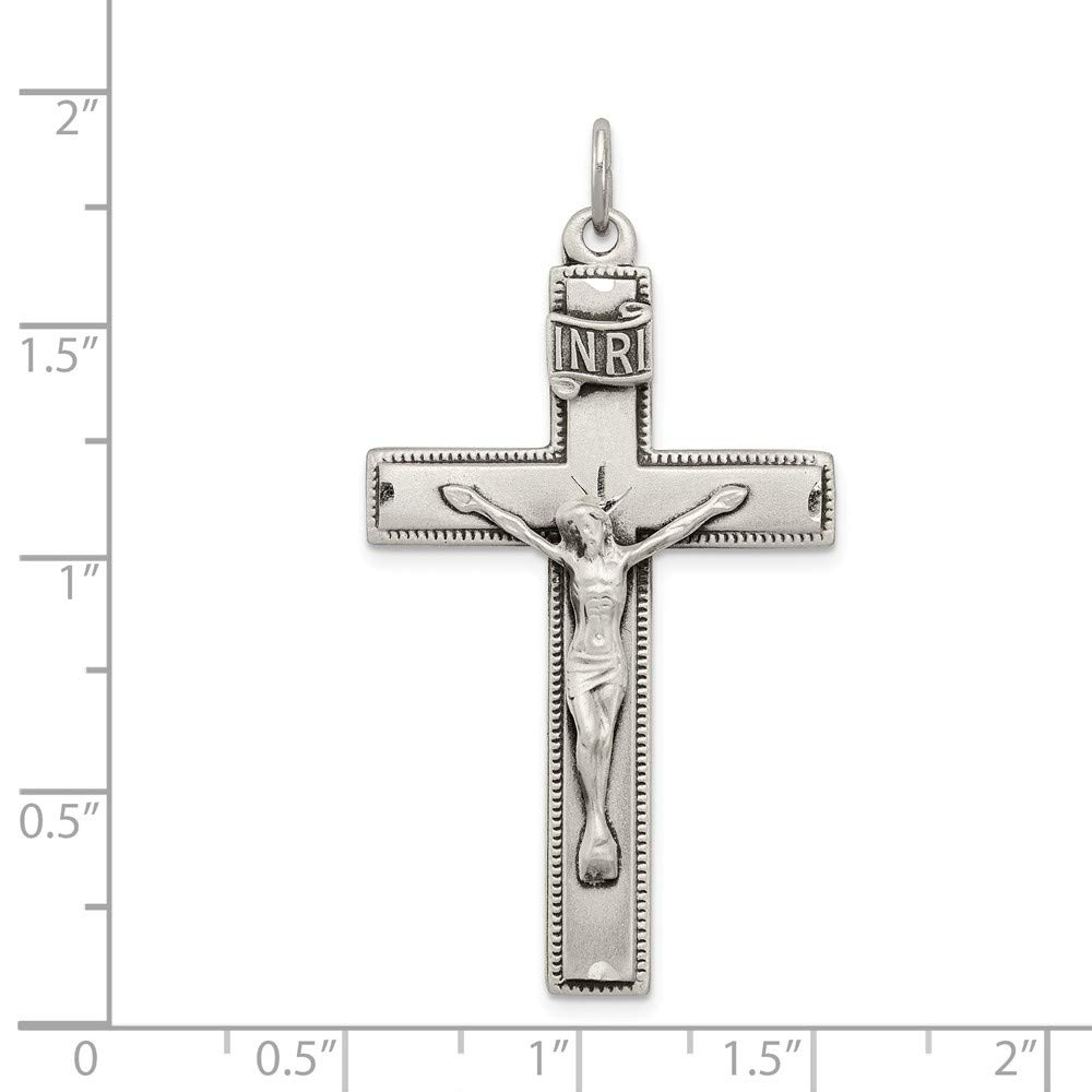 925 Sterling Silver Inri Crucifix Cross Religious Prayer Pendant Charm Necklace Fine Jewelry Gifts For Women For Her