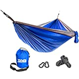 The Adventure Guys Camping Hammock - Double Hammock is Spacious, Lightweight & Super Comfortable - Folding Parachute Portable Hammock is Perfect for Backpacking, Tree, Yard and Outdoor Travel