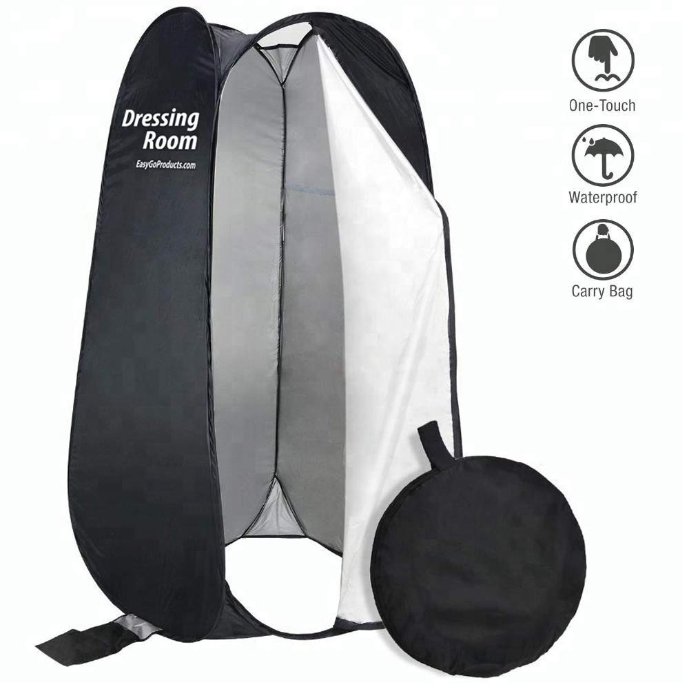 EasyGoProducts EGP-TENT-012-1 EasyGo Changing Dressing Pop Up Shelter for Outdoors Beach Area Grass Shower Room Equipped with Portable Carrying Case. for Clothing Companies, Black (Renewed) by EasyGoProducts