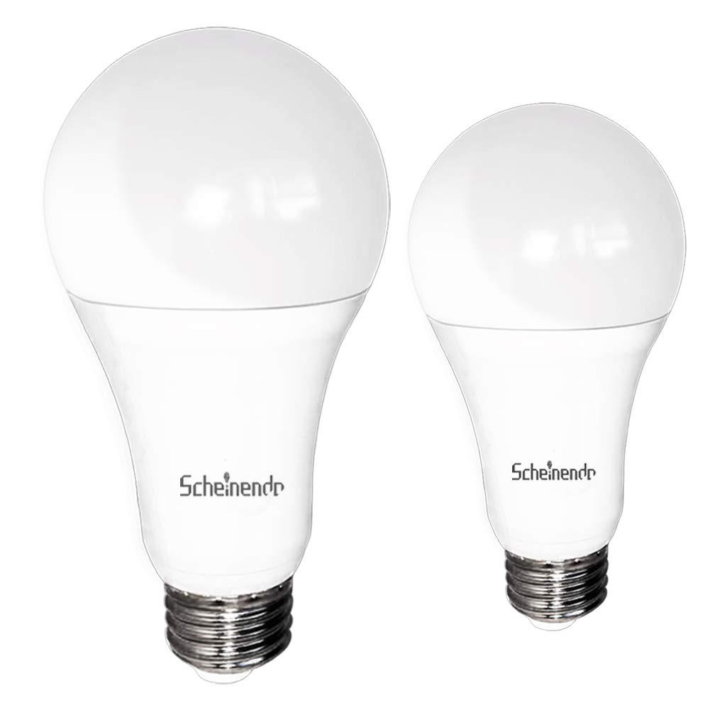 3-Way 50 100 150W Equivalent A21 LED Light Bulb, 500 1600 2100LM High Power/Lumens and 4000K Natural White 6 14 20W LED Lighting,Scheinenda E26 Base LED Bulb for Table Lamp & Living Room-2 Packs