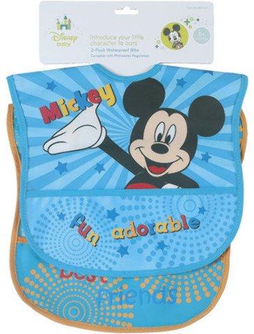 Disney Mickey Waterproof Bib - 2 Pack 6 pcs sku# 1858435MA