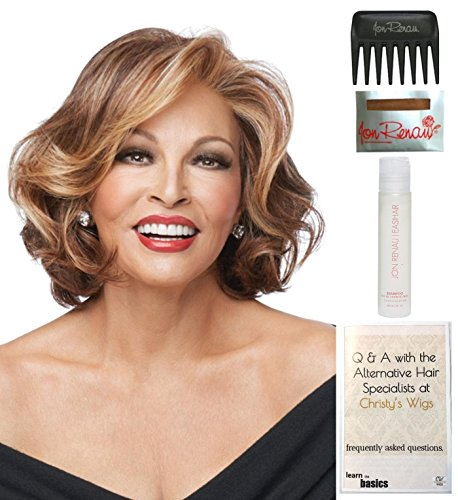 Bundle - 5 items: Crowd Pleaser by Raquel Welch Wig, 15 Page Christy's Wigs Q & A Booklet, Wig Shampoo, Wig Cap & Wide Tooth Comb (Color Selected: RL2925) by Raquel Welch & Christy's Wigs
