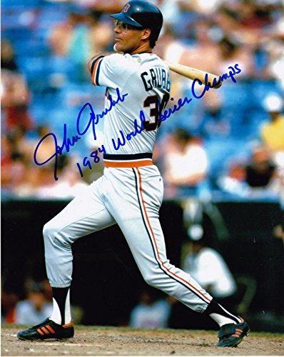 World Champs Series 1984 (JOHN GRUBB DETROIT TIGERS 1984 WORLD SERIES CHAMPS ACTION SIGNED 8x10 - Autographed MLB Photos)
