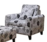 Armen Living 2013 Marietta Black and White Floral Pillow Back Club Chair Review