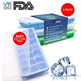 R'ease Best Ice Cube Trays Silicone with Lid are Easy Release...