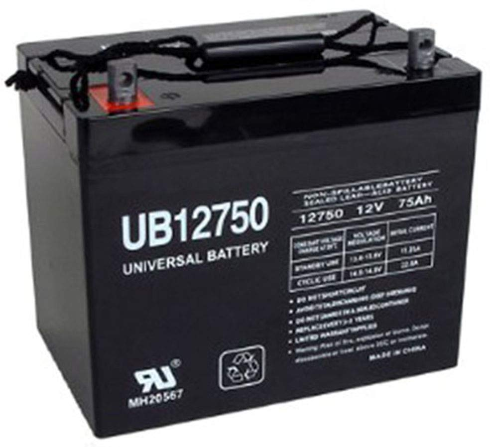 Universal Power Group UB12750 12V 75AH Battery Replacement for Cushman Turf Truckster by Universal Power Group