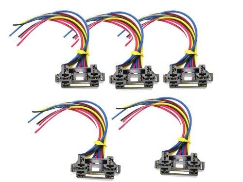 Absolute USA 12 VDC Dual Relay Interlocking Socket, 5 Set