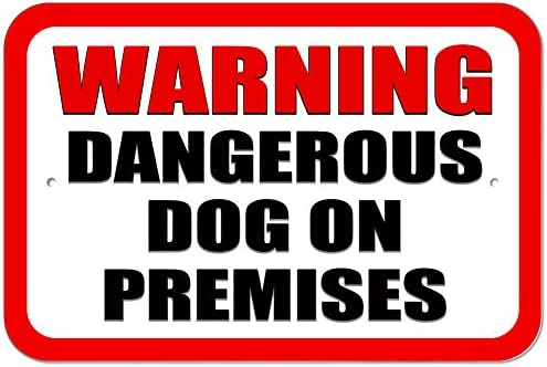 Plastic Sign Dogs on Premises