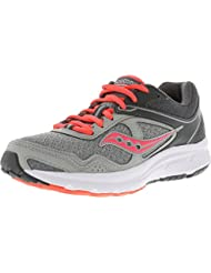 Saucony Womens Cohesion Low Top Lace up Running Sneaker, Grey Coral, Size 8.0