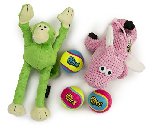 goDog 3 Count Checkers Flying Pig Plush Toy, Retrieval Ultim