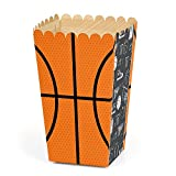 Nothin' But Net - Basketball - Baby Shower or Birthday Party Favor Popcorn Treat Boxes - Set of 12