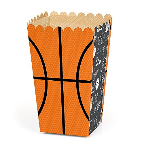 Nothin' But Net - Basketball - Baby Shower or Birthday Party Favor Popcorn Treat Boxes - Set of 12 ()