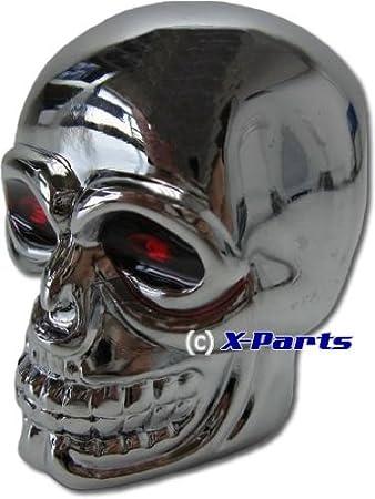 Schaltknauf Totenkopf Skull Chrom Universal Amazon De Auto