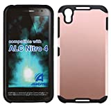 MPERO Alcatel Onetouch Idol 4 / Nitro 4 Case, Protective Dual Layer Slim-Fit Tough Shock-Proof Protection Cover, (Rose Gold)