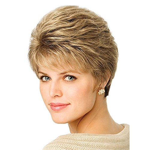 B-G Charming Wigs New Fashion Women Party Cosplay Short Sexy Full Hair Wig Classical Trendy Ombre Synthenic Wig - Wig Made Hair